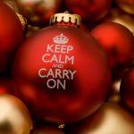 Keep Calm Christmas Bauble
