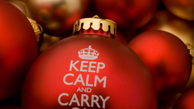Keep Calm Christmas Bauble